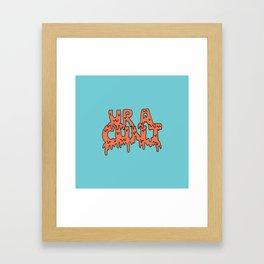 Ur A Cunt -- Teal Framed Art Print