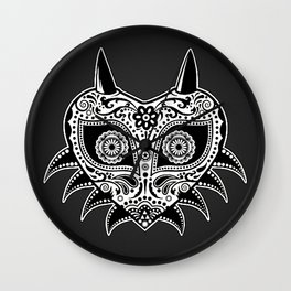 Sugarskull / Majoras mask / black'n'white Wall Clock