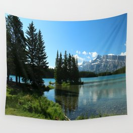 Island In the Lake Wall Tapestry