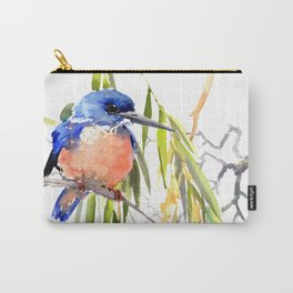KIngfisher and Weeping Willow Carry-All Pouch