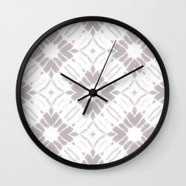 Watercolor Shibori Taupe Wall Clock