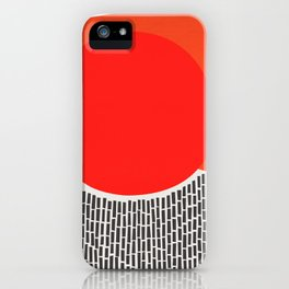 Sunshine And Rain Abstract iPhone Case