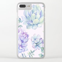 Wonderful Succulents Clear iPhone Case