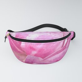 Pink peony illustration Fanny Pack