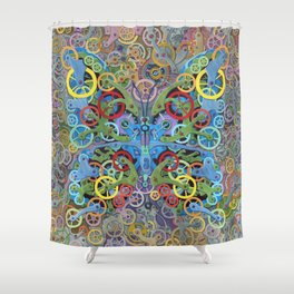 Clockwork Butterfly No. 11 Shower Curtain