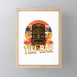 Follow Me To The Tiki Bar Hawaiian Luau Party Pun Design Vacation Gift Framed Mini Art Print