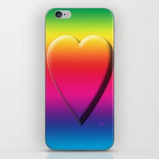 One Heart Rainbow iPhone & iPod Skin