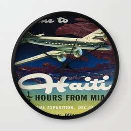 Vintage poster - Haiti Wall Clock