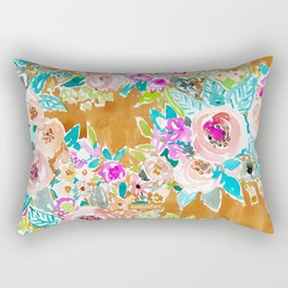 SO LUSCIOUS Colorful Abstract Floral Rectangular Pillow