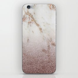 Burgundy glow - marble glitter gradient iPhone Skin
