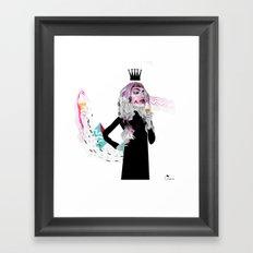 Ice Cream Queen Framed Art Print