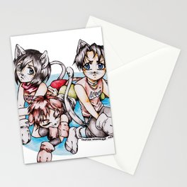 SNK Chibi Neko Stationery Cards