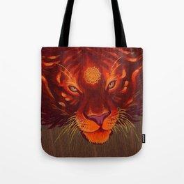 Fire Tiger Tote Bag