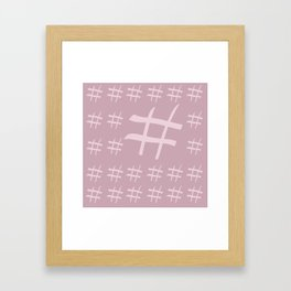 Digital hash tags Framed Art Print