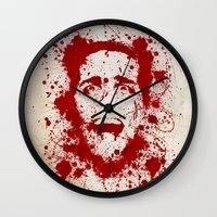scary Wall Clocks featuring American Psycho by David