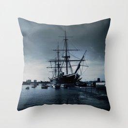 Ship The Warrior HMS 1860 Throw Pillow