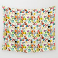 math Wall Tapestries featuring Math in color (little) by Chicca Besso