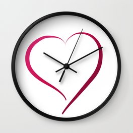Heart in Style by LH Wall Clock