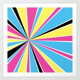 CMYK Star Burst Art Print