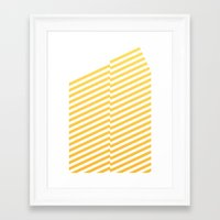 bands Framed Art Prints featuring Yellow bands by blacknote