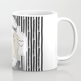 Unconditional Love Cat and Dog as Family Members Stripes Coffee Mug