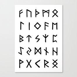 Viking Runes Canvas Print