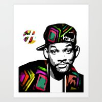 fresh prince Art Prints featuring The Fresh Prince by hilbertart