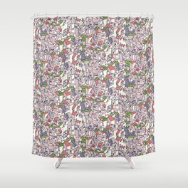 endless city Shower Curtain