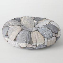Smooth Grey Pebble Minimalistic Zen  Floor Pillow