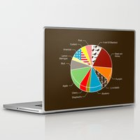 pie Laptop & iPad Skins featuring Pie Chart by Graham Dobson