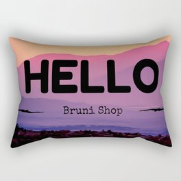 Hello Rectangular Pillow