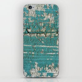 Rustic Wood Turquiose Paint Weathered iPhone Skin
