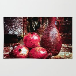 Pomegranates And A Pitcher Rug