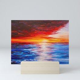 Softening Sunset Mini Art Print