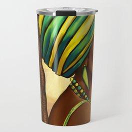 Green Yellow Wrap Travel Mug