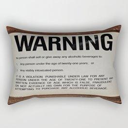 vintage warning sign Rectangular Pillow