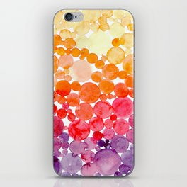 ombre bubbles iPhone Skin