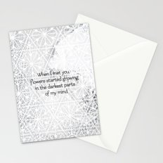 Flowers started growing Stationery Cards