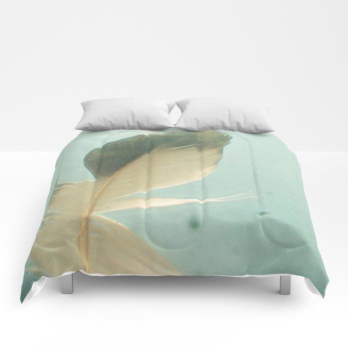 Grey Feather Comforters