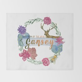 """""""Gansey - Best Mom of The Year"""" The Raven Cycle Inspired Throw Blanket"""