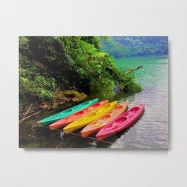 Kayak Metal Print