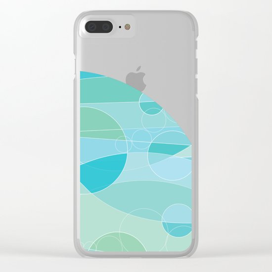 Abstract Ocean Waves Graphic Art Clear iPhone Case