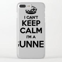 I cant keep calm I am a GUNNER Clear iPhone Case