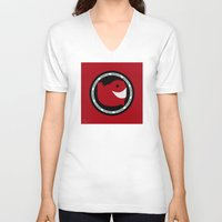 narwhal V-neck T-shirts featuring NARWHAL by David Nuh Omar