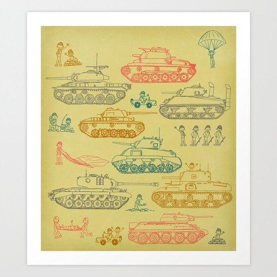 Tanks For Everything Art Print