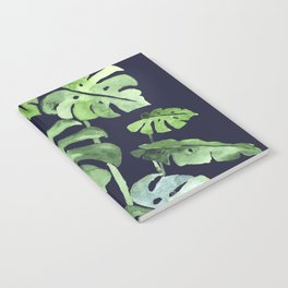 Delicate Monstera Blue #society6 Notebook