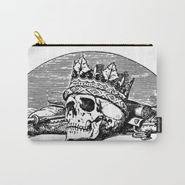 Skull with Crown Carry-All Pouch
