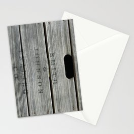 Old wooden box from overseas Stationery Cards