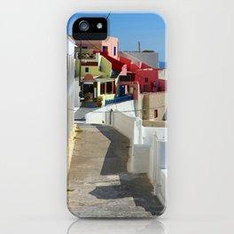 Street in Santorini iPhone Case
