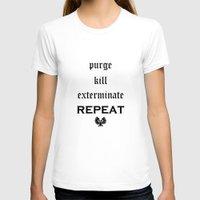 warhammer T-shirts featuring Purge-kill-exterminate black, Warhammer 40K by ZsaMo Design